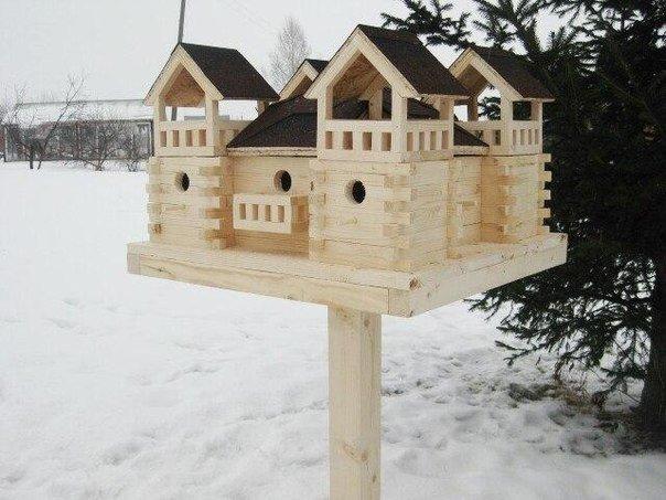 Как сделать домик для птичек